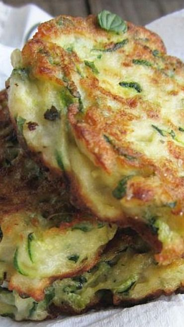 Zucchini & Ricotta Fritters with Feta, Dill and Lemon