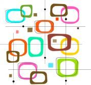 potištěné sklo DesignGlass - motiv barevné čtverce