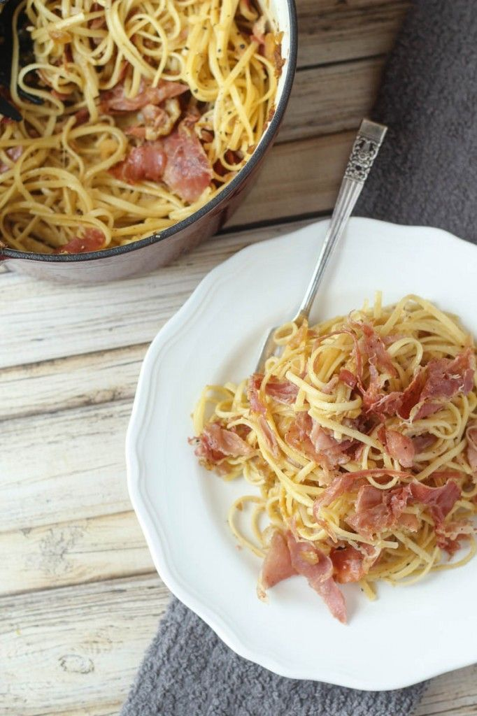 Linguine Squarcierella - also known as the easiest, best-tasting, and most versatile pasta recipe ever!