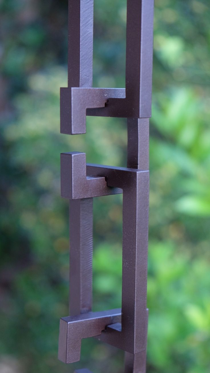 Architectural Links Aluminum Rain Chain in a Bronze Powder-Coat Finish RC3199-BRZ Available in Custom Lengths Add a Contemporary Architectural Element to your Home