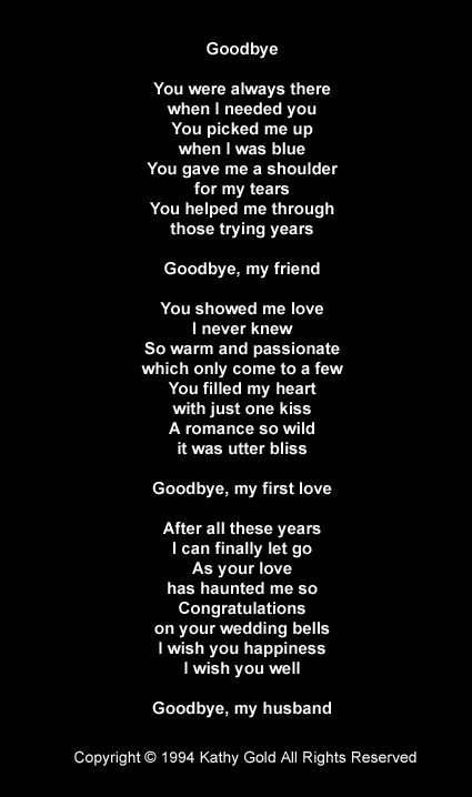 goodbye letter to a lover