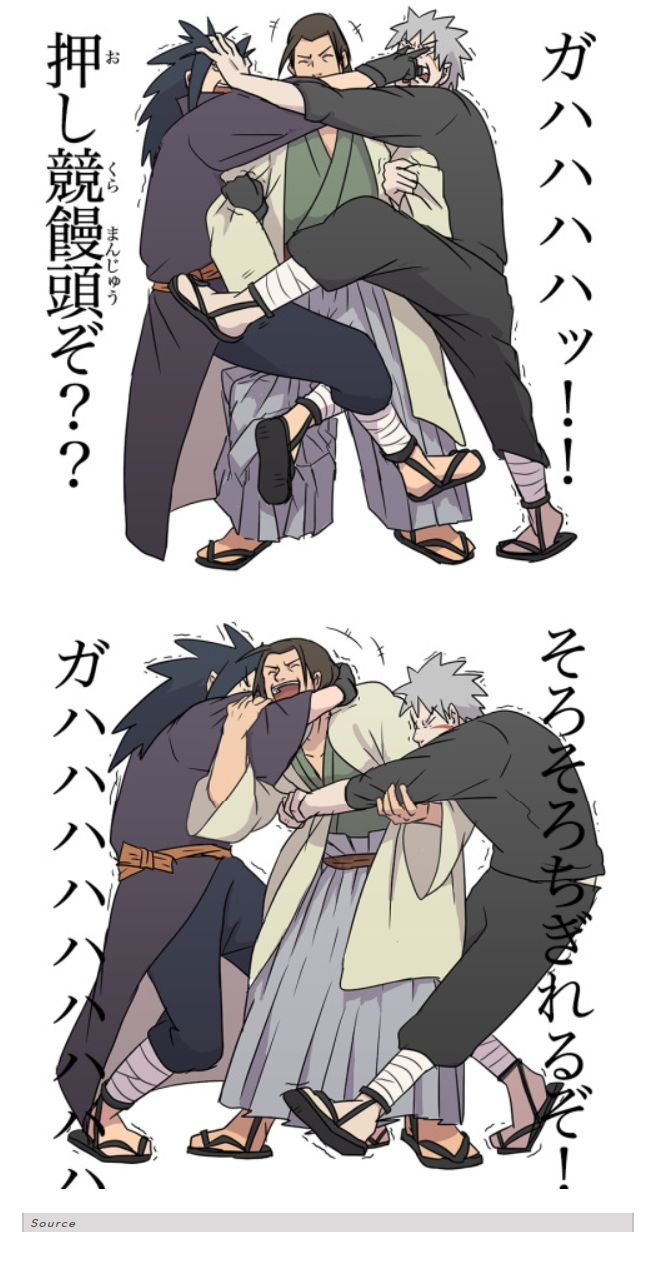 <3 Hashirama, Madara & Tobirama. If they stopped fighitng they would know he loves them both