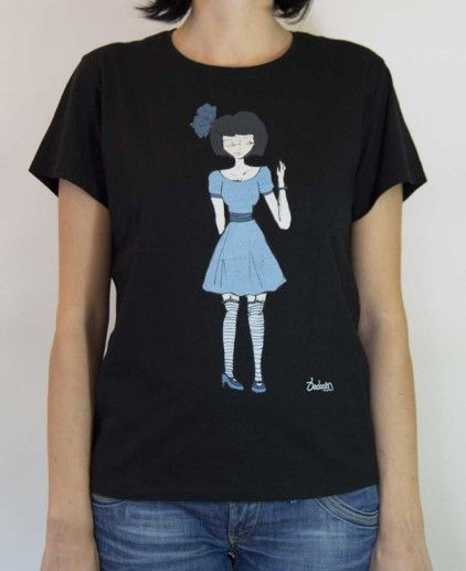 CAMISETA BLUE DRESS N http://www.badoom.es/tienda/camisetas/