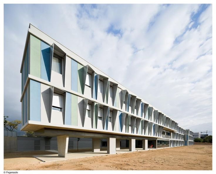 University Apartment Building in the Mediterranean Park of Tecnology (UPC) in Barcelona, Spain by Mestura Architects