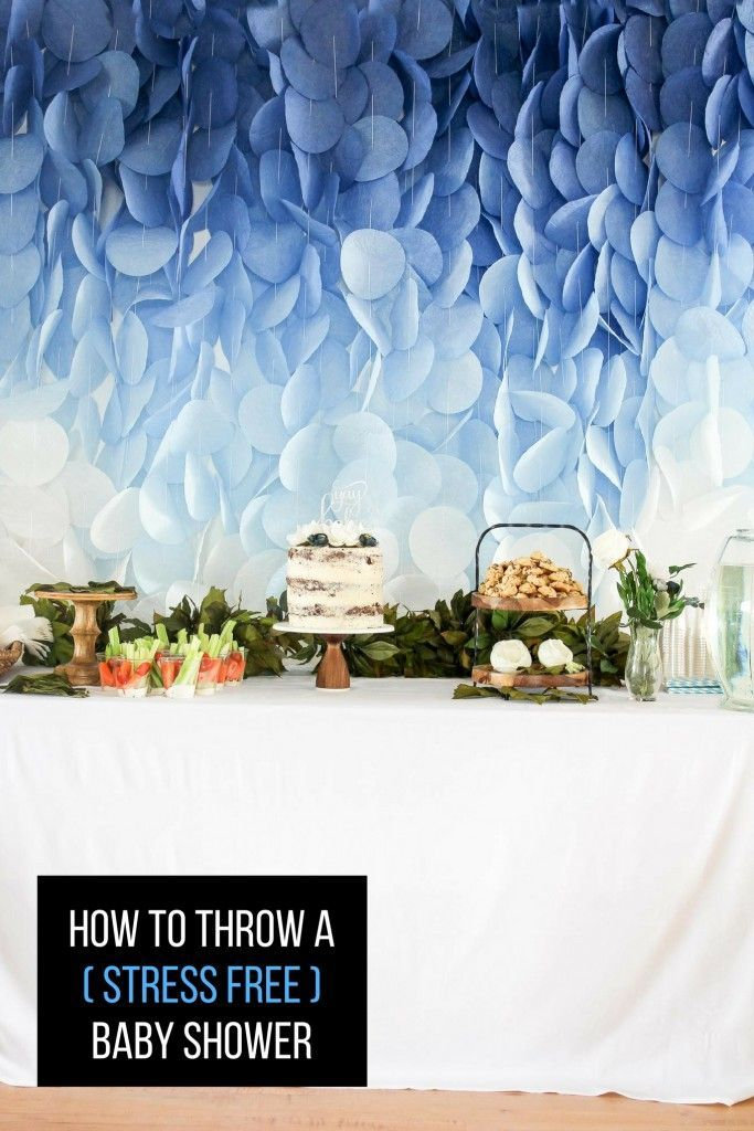 how to throw a stress free baby shower. Tips and ideas on how to be successful at the next baby shower party you help plan.