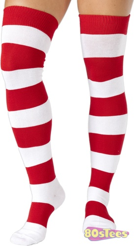 Complete your Where's Wenda Costume with these over the knee socks!