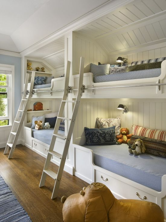 Kids Design, Pictures, Remodel, Decor and IdeasGuest Room, Ideas, Kids Bedrooms, Beach House, Bunk Beds, Kids Room, Bunkroom, Bunk Room, Bunkbeds