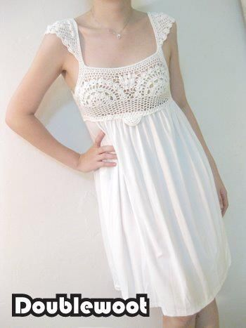 how to do those cap sleeves (scroll down on the site)  crochet top, t shirt for skirt