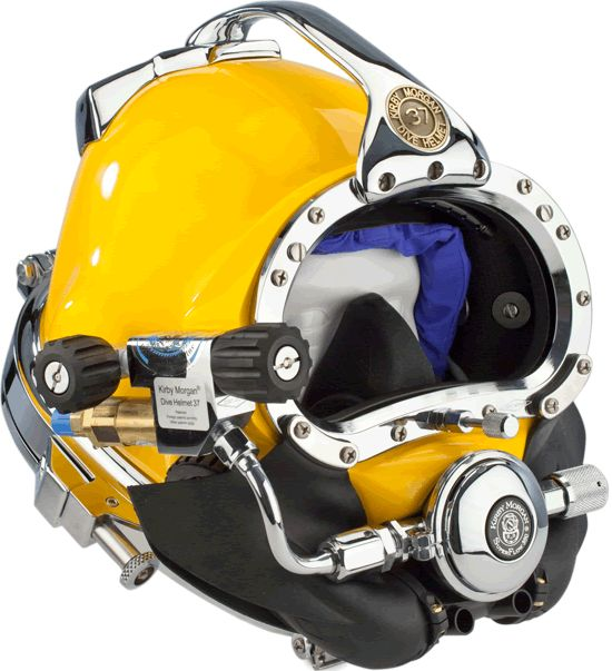 The Kirby Morgan 37 Commercial Diving Helmet with Male Waterproof Connectors continues with a long tradition of providing the highest quality, and superior performance for commercial diving helmets. http://www.amronintl.com/kirby-morgan-37-commercial-diving-helmet.html