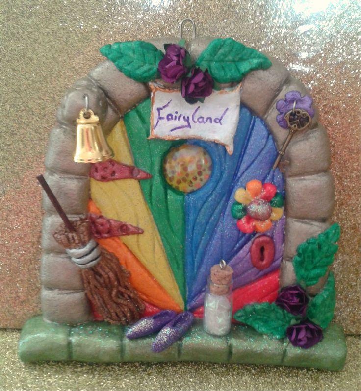 61 best fairy doors images on pinterest for Rainbow fairy door