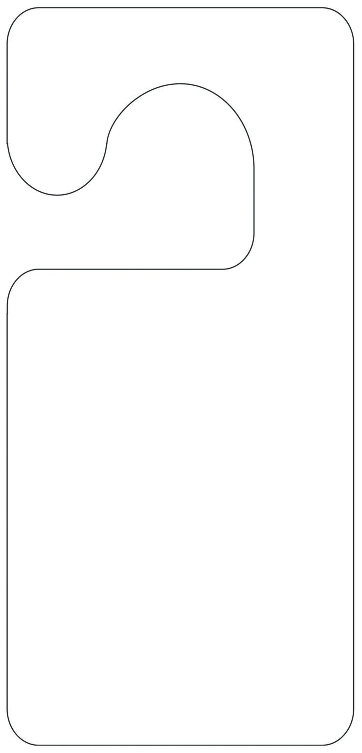 It is a graphic of Striking Free Printable Door Hanger Template