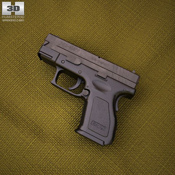 Springfield Armory XD (HS2000) 3.5 inch sub-compact 3d model from humster3d.com. Price: $50