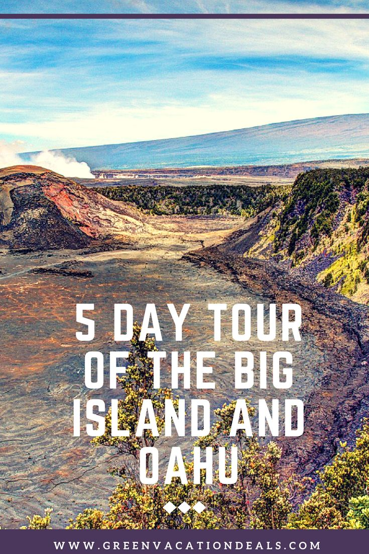 Hawaii Vacation Ideas - 5 day tour of the Big Island and Oahu! Visit Hawaii Volcanoes National Park, Polynesian Cultural Center, Pearl Harbor, and more. | Hawaii Travel Itinerary | Hawaii Vacation Planning
