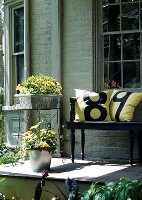 Foyer Seating Area Ideas : How to spruce up your porch for spring ideas