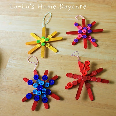 Star Ornaments. Such a cute and colorful idea!