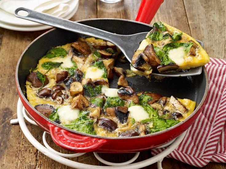Omelett-Rezepte - von leicht bis raffiniert - spinat-pilz-omelett  Rezept