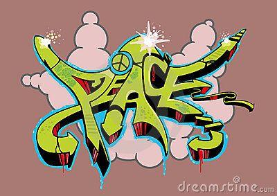 Graffiti Peace Royalty Free Stock Photo - Image: 17331715
