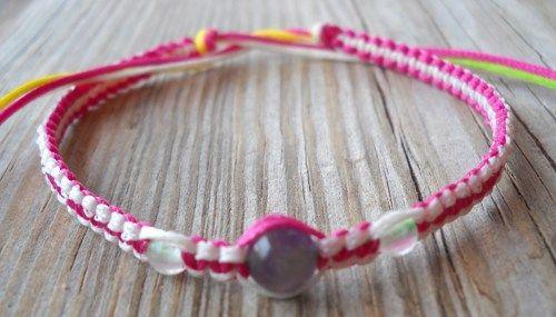 Handmade Free Size Multicolor Wax String Beaded Bracelet or Anklet | pavlos - Jewelry on ArtFire