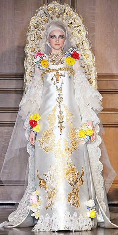 wedding dress in russian style by christian lacroix presentation by vlada bride