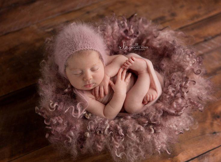 Mauve angora bonnet newborn angora bonnet newborn bonnet newborn photography props newborn