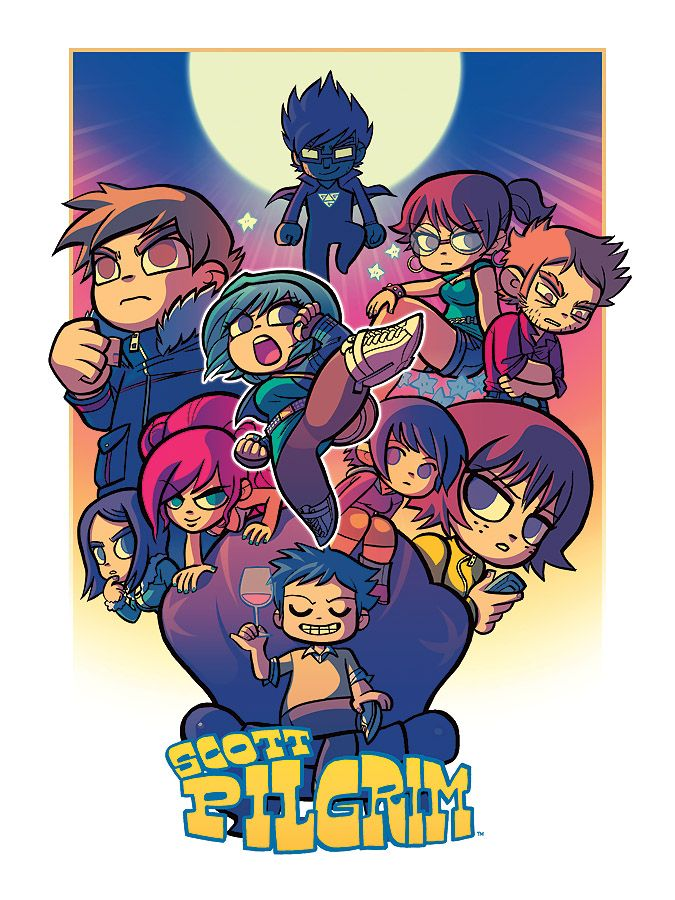 Contrast and comparison. Street Fighter X Scott Pilgrim