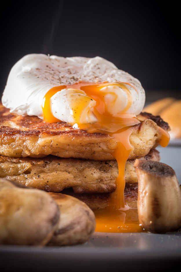 Irish Potato Pancakes with a Poached Egg