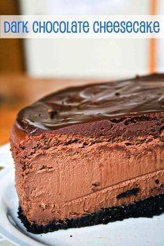 Dark Chocolate Cheesecake {Bunsen Burner Bakery}