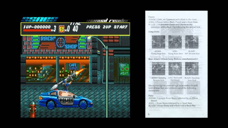 Streets of Rage - SSNES manual reader