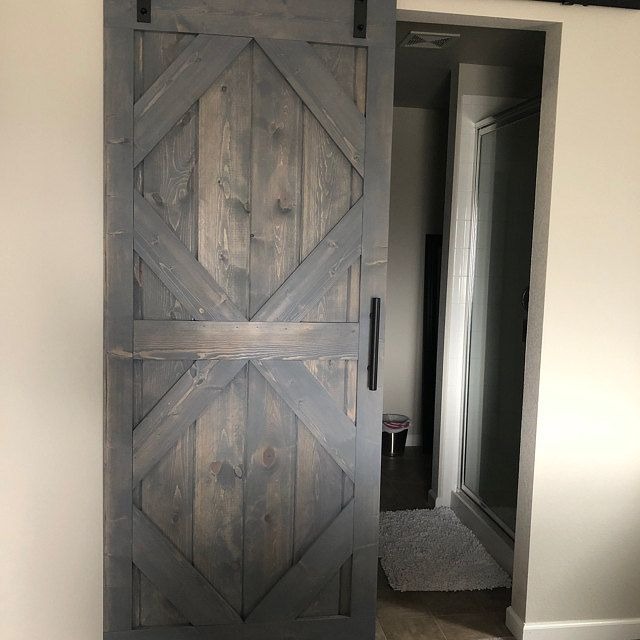 Rustic Sliding Barn Door Custom Made To Fit Your Style Interior Barn Doors Barn Door Handles Solid Interior Doors