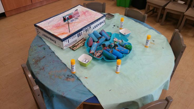 Toilet roll fishes provocation/activity. Ocean theme