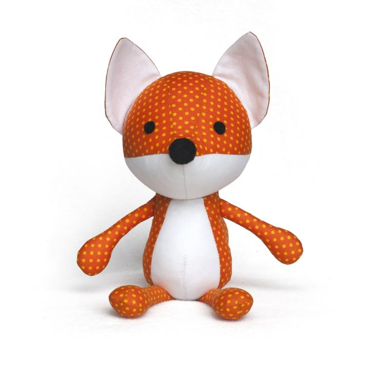 Fox Plushie sewing pattern - Allsewingpatterns.net