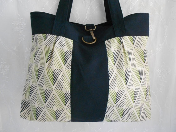 Blue and Green Shoulder Bag with Brass by TheLovebirdsProject, $32.00
