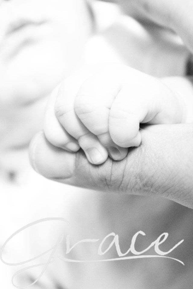 Holding onto dad
