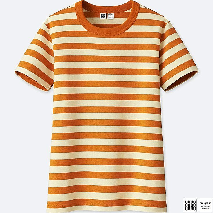 Women Colorful Stripes Printed Crew Neck Short Sleeves Casual T-Shirt Tops