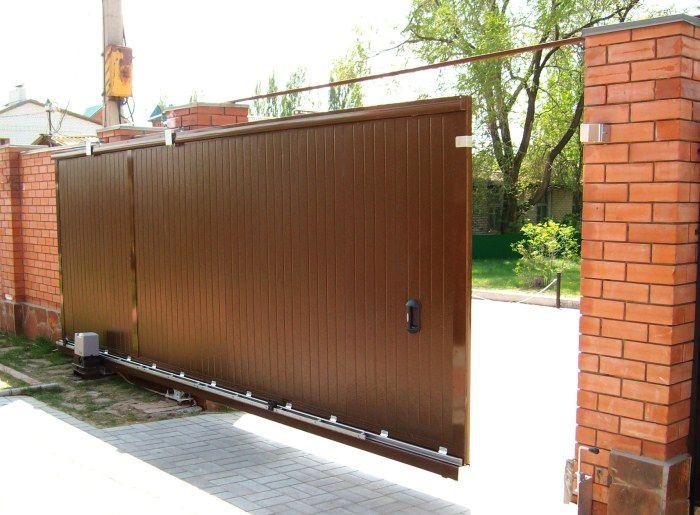 Ворота раздвижные на гараж 13