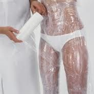 I totally may try this before my wedding day...LOL!!     Hollywood body wraps to lose inches are all the craze. But did you know you can make a body wrap at home for a fraction of the cost?