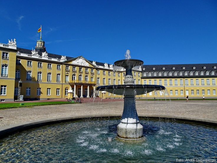 Karlsruhe - Schloss Brunnen