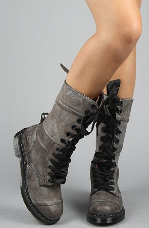 Dr. Martens The Triumph 1914 14 eye boot // have these in black, lined with sheepskin :)