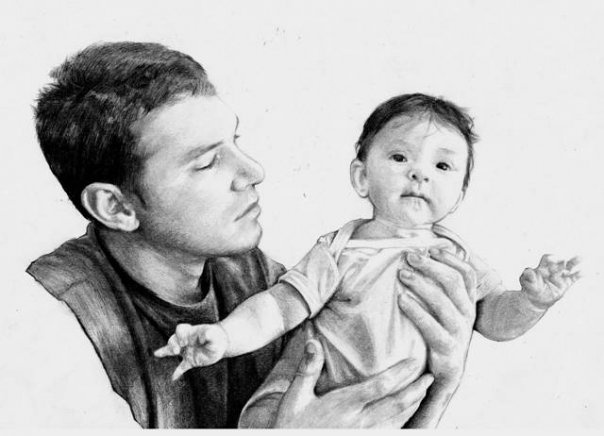My eldest son and his daughter (my daughter uses pencil with her art and is self taught)
