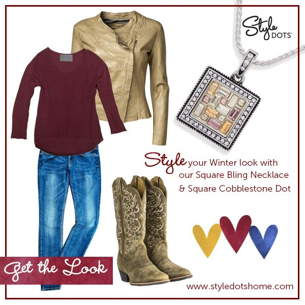 Perfect for a day of Christmas shopping or a casual gathering of family or friends, this winter look will leave everyone doing a double-take! Let Style Dots jewelry be the icing on the cake for your holiday outfits this season and all winter long! #WinterLook #ChristmasFashion