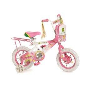 """John Deere 12"""" Girls Bike - Pink... I think I know what bike will be Aubrie's first big-girl bike!!"""
