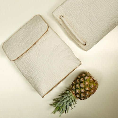 <p>Pinatex is a new leather made from waste pineapple leaves.</p>