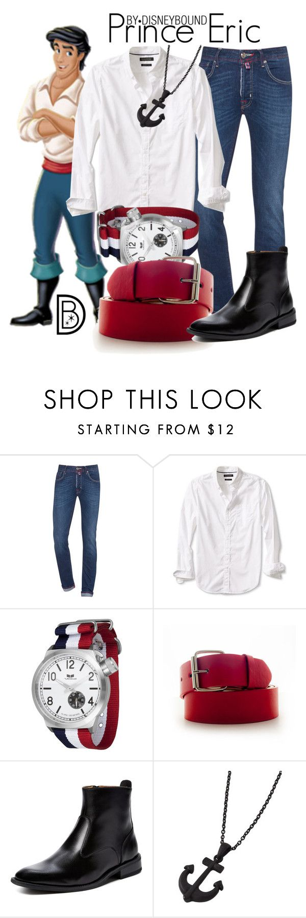 """""""Prince Eric"""" by leslieakay ❤ liked on Polyvore featuring Jacob Cohёn, Banana Republic, Vestal, Faddism, Giorgio Brutini, men's fashion, menswear, disney and disneybound"""