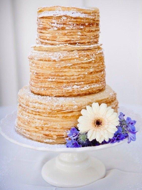 Idées originales pour votre mariage : un gâteau de crêpes