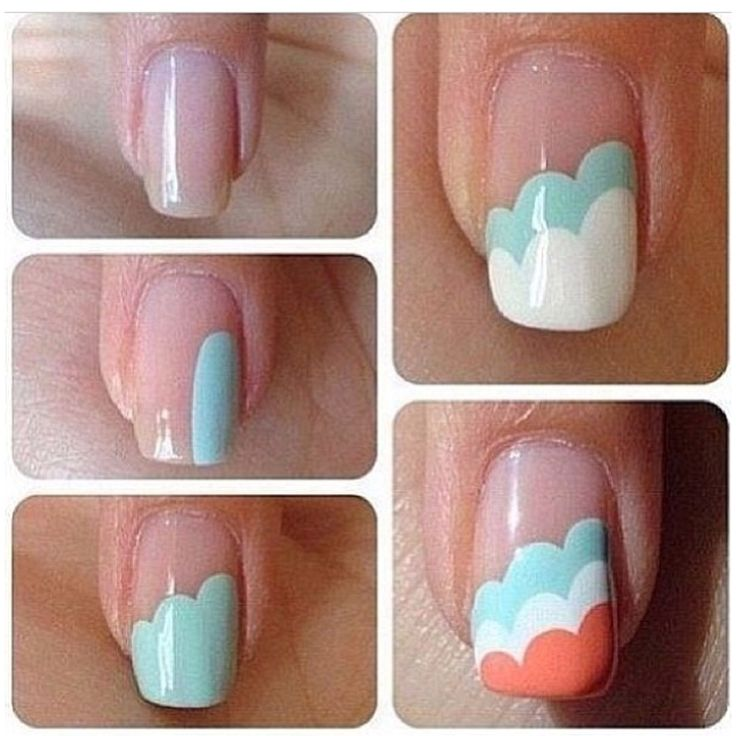 Simple and easy to do nail design