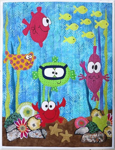 Under The Sea 2 Fish Quilt Baby Quilts Cute Quilts