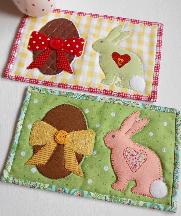 Easter Mug Rug. Need a place to rest your teacup whilst unwrapping those…
