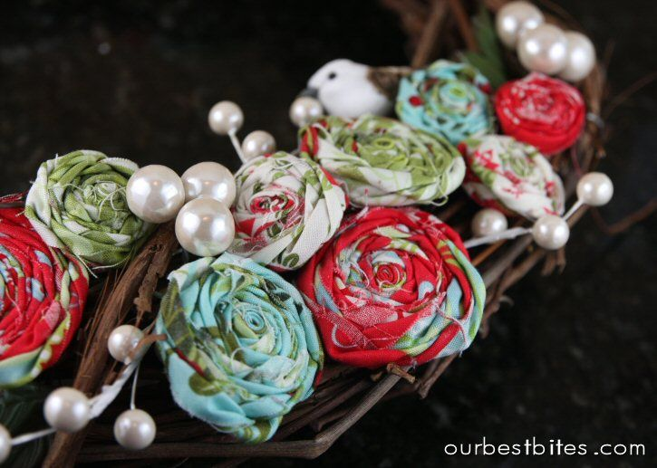 Tutorial: Rolled Fabric Flowers - Our Best Bites