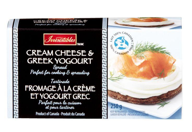 METRO BRANDS, G.P. / Irresistibles Cream Cheese & Greek Yogourt Spread