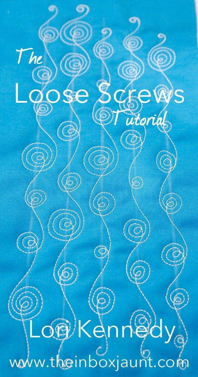Loose Screws, Spirals, Machine Quilting, Lori Kennedy